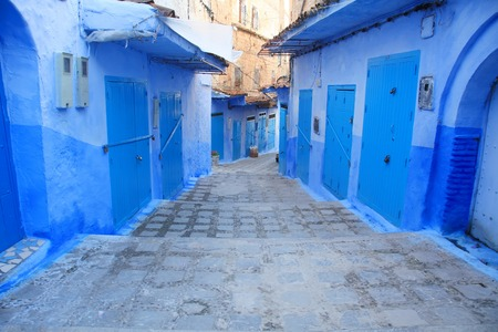 Chefchaouen Traditional Medinas and Colors in Morocco photo