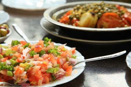 moroccan cuisine: Moroccan Tomato Salad a Popular Dish in Morocco