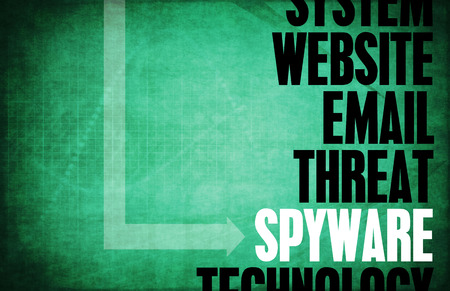 hijacked: Spyware Computer Security Threat and Protection Stock Photo