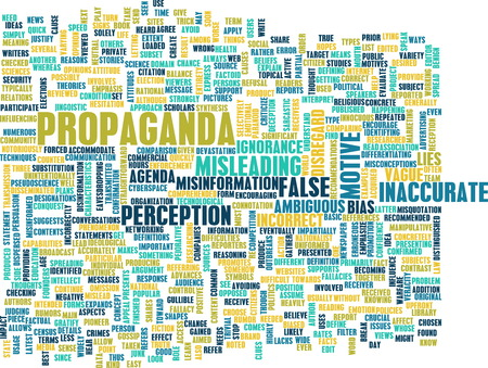 indoctrination: Propaganda as a Message Concept Abstract Art