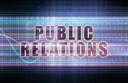 pr: Public Relations or PR on a Business Chart
