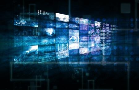 Data Management technologie a zpracování velkých objemů dat jako umění Reklamní fotografie