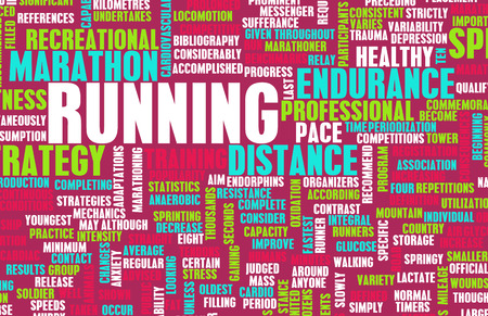 sporting: Running as a Endurance Fitness Hobby Sport Stock Photo