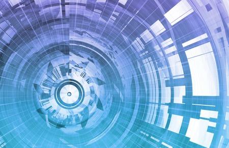 通訊: 技術背景數字能源作為一種藝術 版權商用圖片