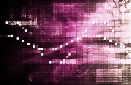 Data Tracking and Surveillance Chart Analysis Art photo