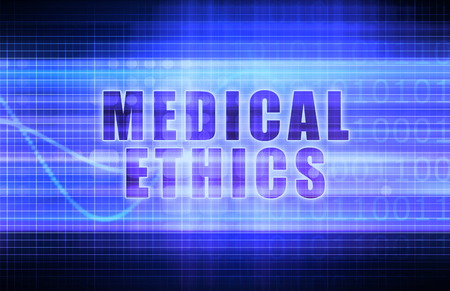 medical decisions: Medical Ethics on a Tech Business Chart Art