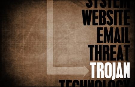 cavallo di troia: Trojan Horse minaccia informatica Sicurezza e protezione Archivio Fotografico