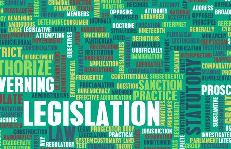 statutory: Legislation or Statutory Law as a Concept Stock Photo