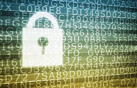 Sicherheitssystem für die Datenbank und privaten Daten Standard-Bild