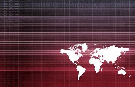 Global Partners in Export Trade Software Art Stock Photo