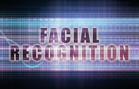 reconocimiento: Reconocimiento facial en un gráfico Tecnología Economía Arte