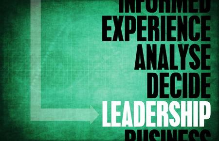 Leadership Core Principles as a Concept Abstract photo
