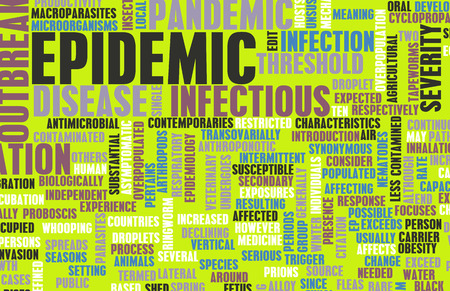 virulence: Epidemic as Outbreak of Infectious Disease as Art Stock Photo