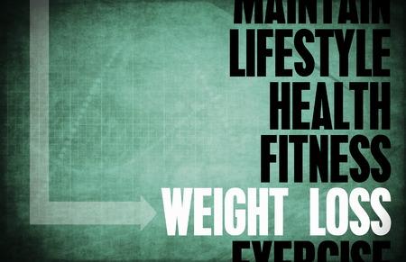 Weight Loss Grundprinzipien als Konzept