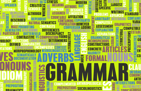 Grammar Learning Concept and Better English Art Imagens