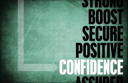 Confidence Core Principles as a Concept Abstract Stock Photo
