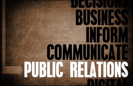 relaciones publicas: Relaciones Públicas Principios Básicos como un concepto abstracto Foto de archivo