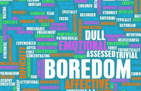 Bored or Boredom as a Concept Art Stock Photo