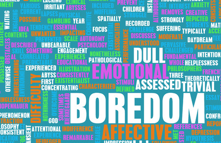 unmotivated: Bored or Boredom as a Concept Art Stock Photo