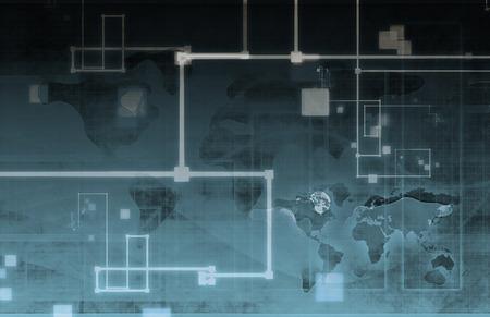 arte abstracto: Datos de tecnolog�a de la ciencia como un arte abstracto