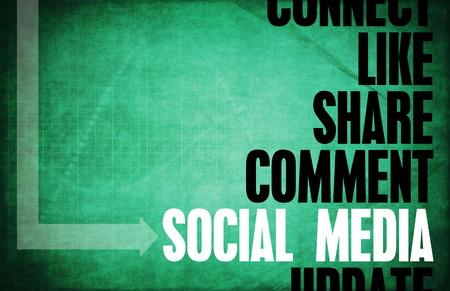 principles: Social Media Core Principles as a Concept Stock Photo
