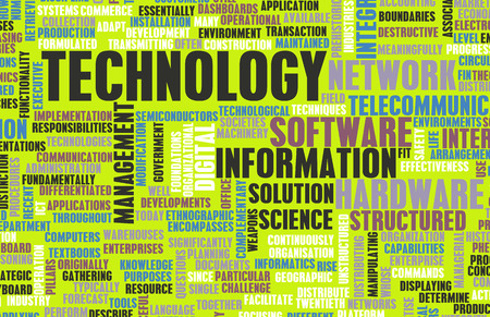 Technology Concept as a Abstract Word Cloud Art