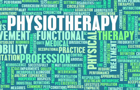 Physiotherapie als Medical Career Concept Art Lizenzfreie Bilder