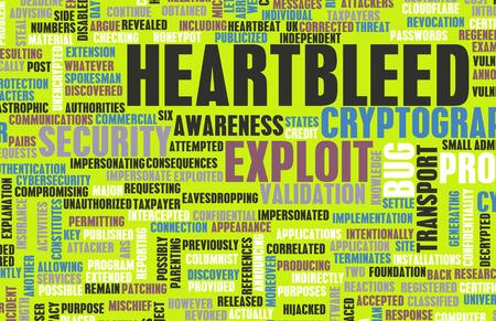 explocion: Heartbleed Tecnología Exploit Alerta Bug como concepto