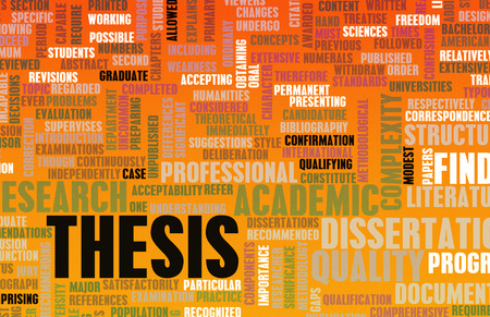 thesis: Thesis Paper and Academic Essay as Concept