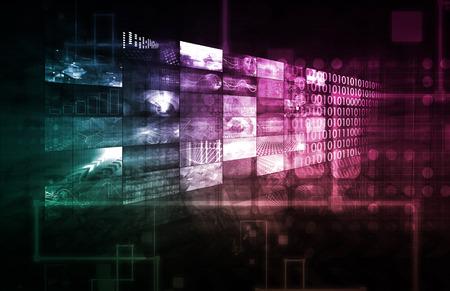 Infrastructure de la technologie par l'art abstrait