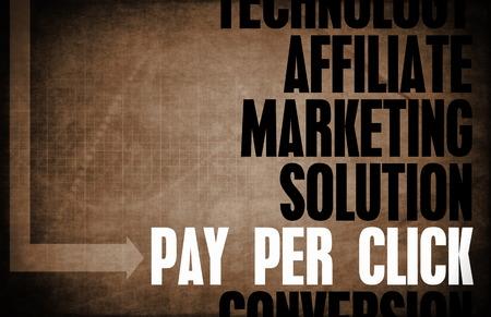 principles: Pay Per Click Core Principles as a Concept Stock Photo