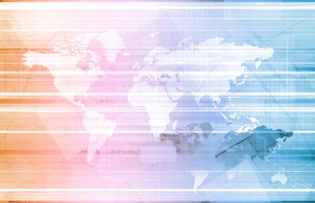 distributor: Global Logistics Management Processes As a Art Stock Photo