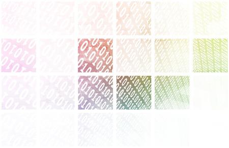 binaries: Binary Blocks as a Technology Concept Art