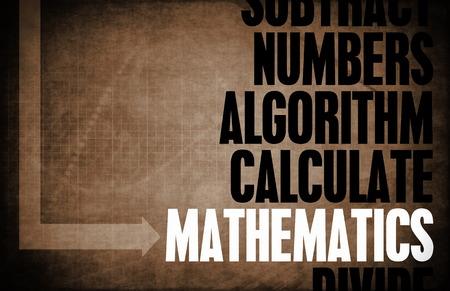 soumis: Les math�matiques comme un sujet Arithm�tique avec nombres Banque d'images