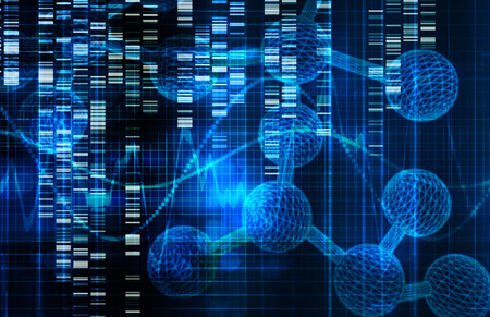 Genetic Science Research as a Medical Abstract Art Stock Photo