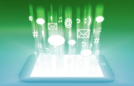 Medios Emergentes mercado móvil y tecnologías más avanzadas Foto de archivo