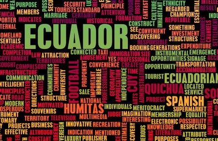 ecuador: Ecuador as a Country Abstract Art Concept