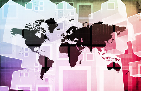 export import: Global Import Export Business as a Presentation Art Stock Photo