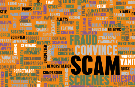 Scam or Scams Online on the Internet as Concept Stock Photo - 36532418
