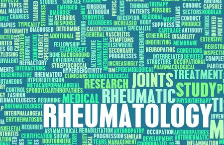specialty: Rheumatology or Rheumatologist Medical Field Specialty As Art Stock Photo