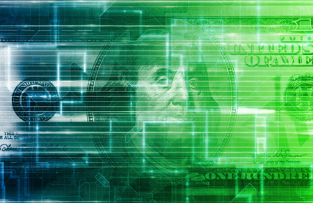 us currency: Digital US Dollar or Online Currency Background
