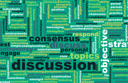 verbal: Discussion or Debate as a Verbal Concept Art Stock Photo