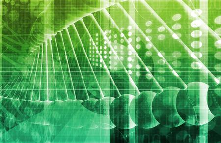 医療遺伝学や遺伝子 DNA の抽象的なイメージ