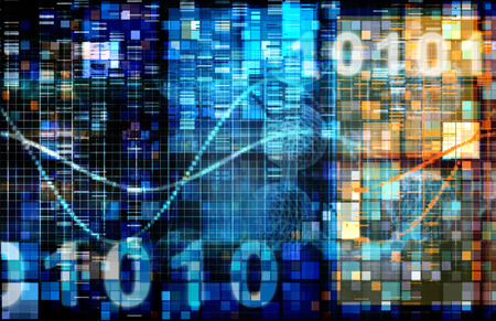 algorithms: Digital Image Background with Binary Code Technology