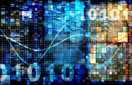 Image de fond numérique avec la technologie code binaire Banque d'images
