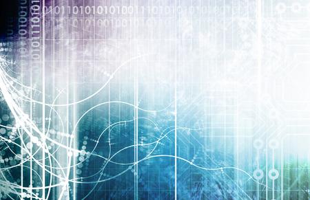 tecnolog�a informatica: Tecnolog�a de la Informaci�n o TI como un fondo de arte Foto de archivo