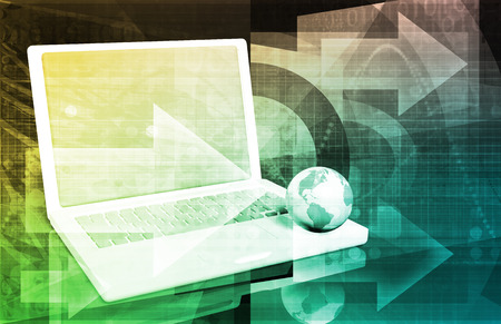 surfing the net: Internet Web Abstract on a Digital Background Stock Photo
