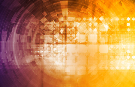holographic: Projecting the Future in a Digital Art Abstract Stock Photo
