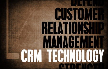 core: CRM Technology Core Principles as a Concept Stock Photo