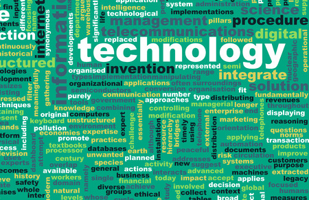 diversified: Technology Diversified Types of Technologies as Concept Stock Photo